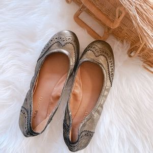 Sole Society Tanya Metallic Flats